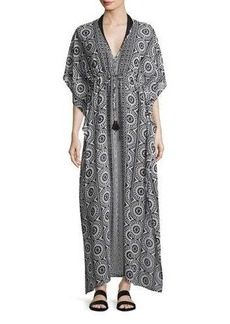 Tommy Bahama Geo Relief Maxi Caftan Coverup