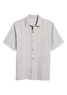 Tommy Bahama Geovanni Geo Classic Fit Silk Camp Shirt