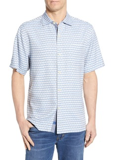 Tommy Bahama Geovanni Geo Classic Fit Silk Camp Shirt