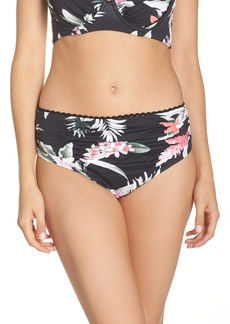 Tommy Bahama Ginger Flowers Shirred Bikini Bottoms