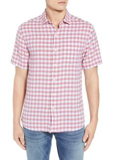 Tommy Bahama Gingham Del Toro Linen Blend Sport Shirt