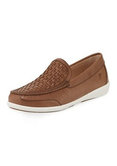 Tommy Bahama Graniti Woven-Vamp Leather Loafer
