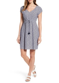 Tommy Bahama Greek Cay Jersey Drawstring Dress