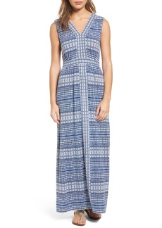 Tommy Bahama Greek Grid Maxi Dress
