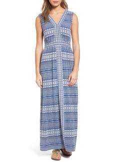Tommy Bahama Greek Grid Maxi Dress