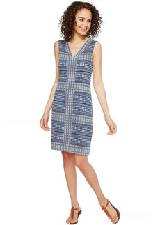 Tommy Bahama Greek Grid Short Sleeveless Dress