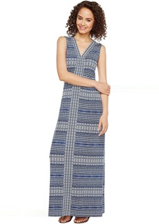 Tommy Bahama Greek Grid Sleeveless Maxi Dress