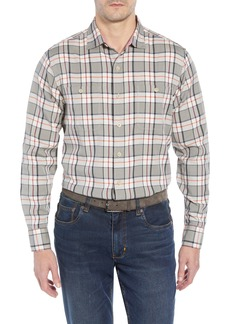 Tommy Bahama Harbor Herringbone Plaid Sport Shirt