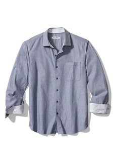 Tommy Bahama Heather Bay Herringbone Button-Up Shirt