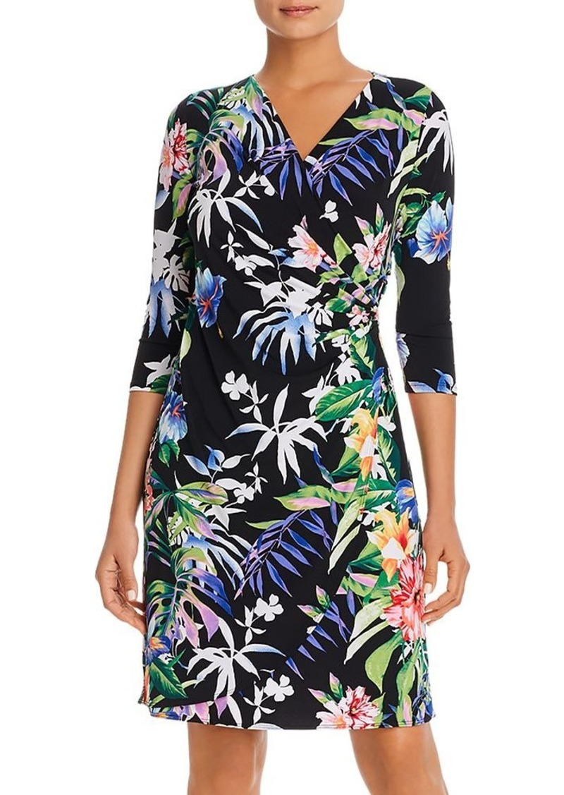 Tommy Bahama Hermosa Floral Faux-Wrap Dress
