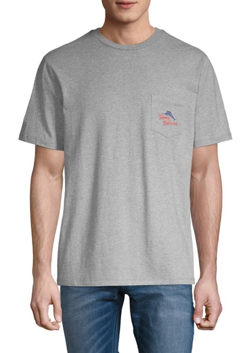 Tommy Bahama Hooked On A Feeling Cotton Pocket Tee