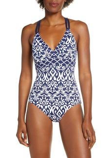 Tommy Bahama Ikat Diamonds Reversible One-Piece Swimsuit
