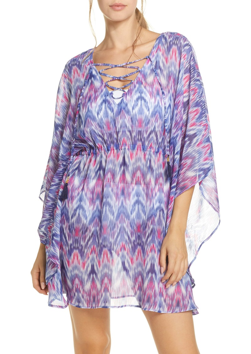 Tommy Bahama Ikat Mirage Lace Front Cover-Up Tunic