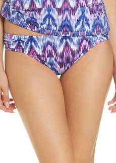 Tommy Bahama Ikat Mirage Side Shirred Swim Bottoms