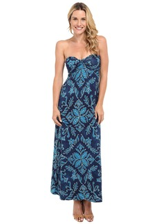 Tommy Bahama Indigo Flora Strapless Dress