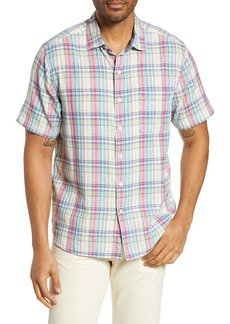Tommy Bahama Island Etch Classic Fit Plaid Sport Shirt