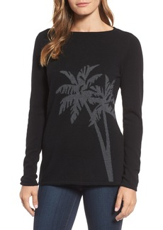 Tommy Bahama Island Palm Intarsia Cashmere Pullover