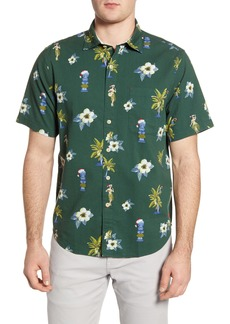 Tommy Bahama Juniper Classic Fit Holiday Short Sleeve Button-Up Seersucker Shirt