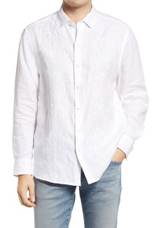 Tommy Bahama Just Maui'd Embroidered Button-Up Linen Shirt