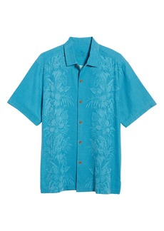 Tommy Bahama Kamari Border Classic Fit Silk Camp Shirt