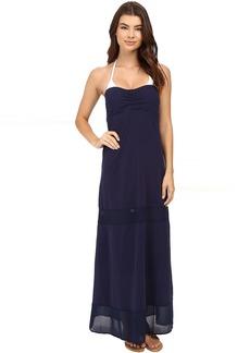 Tommy Bahama Knit & Chiffon Long Bandeau Dress Cover-Up