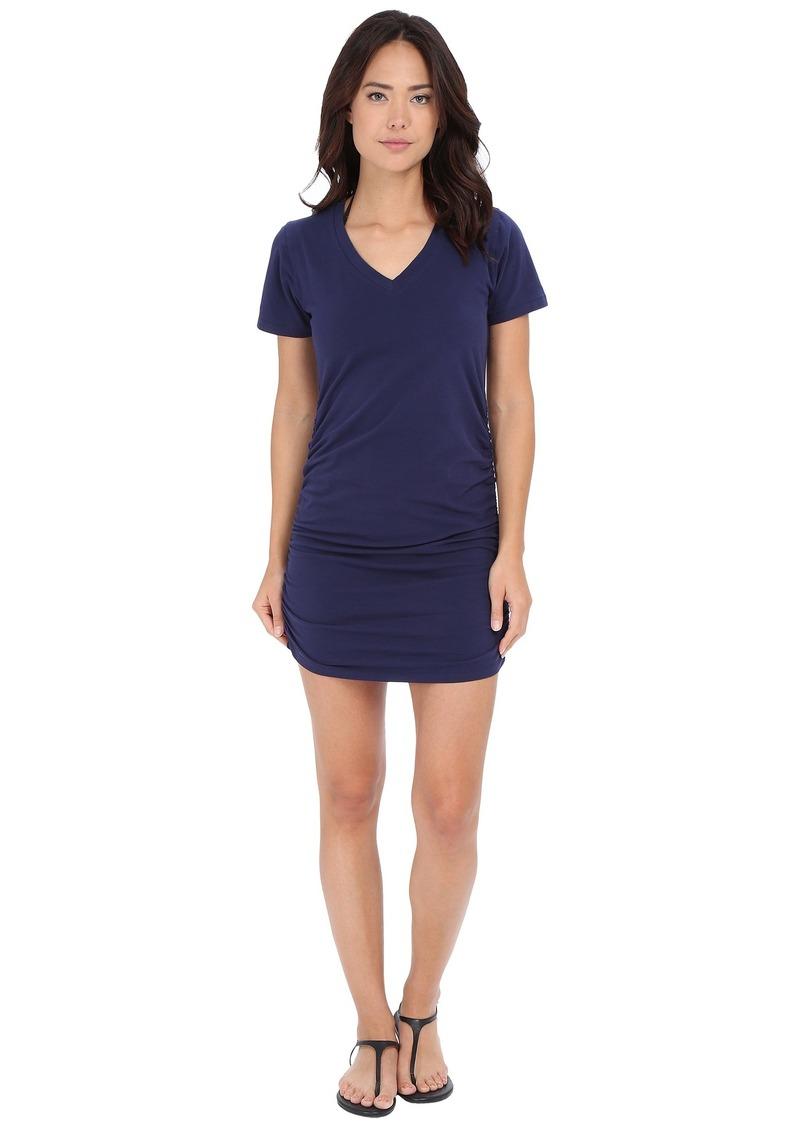 Tommy Bahama Knit & Chiffon Shirred T-Shirt Dress Cover-Up