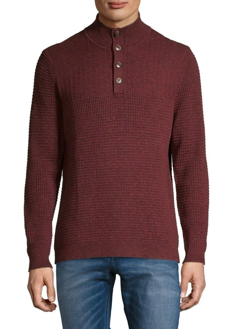 Tommy Bahama Knit Quarter-Button Sweater