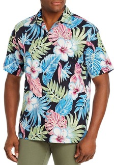 Tommy Bahama Konkan Jungle Silk Regular Fit Short-Sleeve Shirt