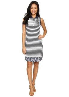 Tommy Bahama La Luna Stripe Sleeveless Polo Dress