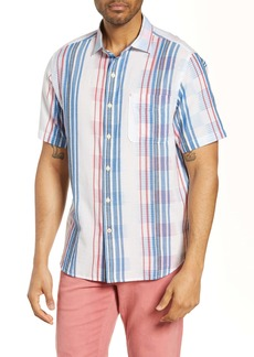 Tommy Bahama La Pelosa Stripe Classic Fit Short Sleeve Button-Up Shirt