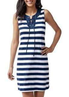 Tommy Bahama Lace-Up Striped Dress