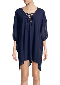 Tommy Bahama Lace-Up Cover-Up Dress