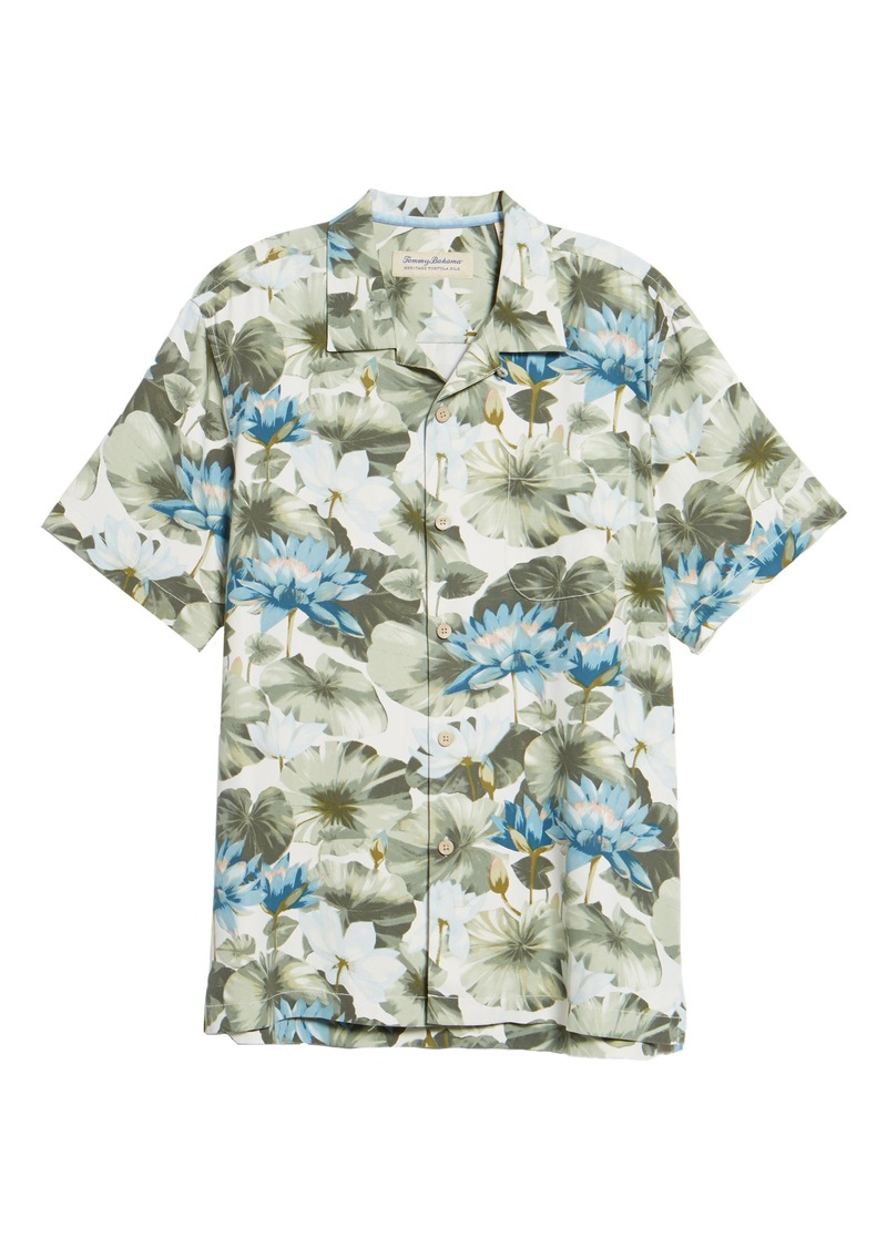 755af61ac94 Tommy Bahama Tommy Bahama Lagoon Lotus Original Fit Silk Camp Shirt ...