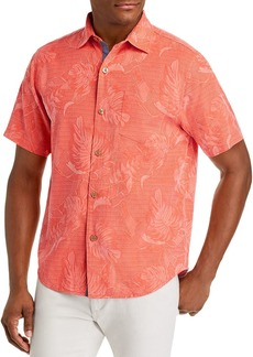 Tommy Bahama Lahaina Leaves Regular Fit Short-Sleeve Silk Shirt