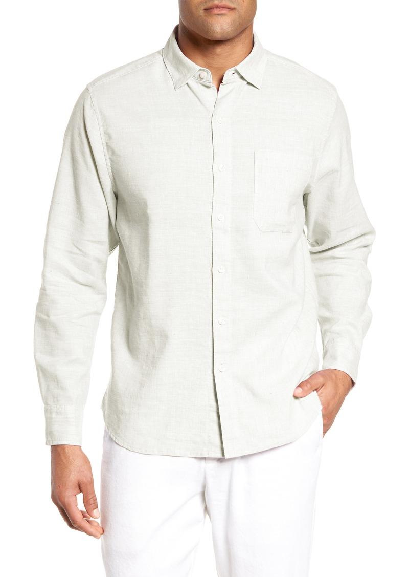 Tommy Bahama Lanai Tides Classic Fit Linen Blend Shirt