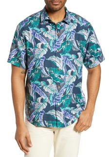 Tommy Bahama Let's Be Fronds Print Silk Blend Shirt