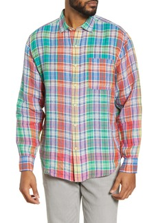 Tommy Bahama Mahal Madras Plaid Linen Button-Up Shirt