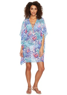 Tommy Bahama Majorelle Jardin Lace-Up Tunic Cover-Up