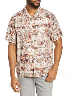 Tommy Bahama Malibu Peach Classic Fit Short Sleeve Silk Blend Button-Up Camp Shirt