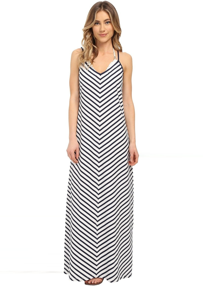 Tommy Bahama Mare Stripe Mitered Long Dress Cover-Up