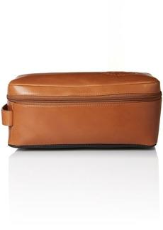 Tommy Bahama Men's 100% Burnished Leather Travel Kit Toiletry Bag
