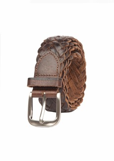 Tommy Bahama Men's Braided Woven Leather Belt