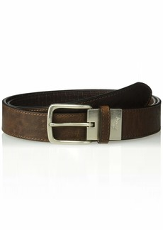 Tommy Bahama Men's 100% Leather Reversible Belt brown
