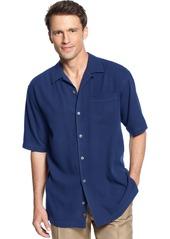 Tommy Bahama Men's 100% Silk Short-Sleeve Catalina Twill Shirt, Created for Macy's