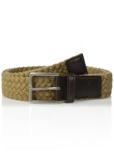 Tommy Bahama Men's 1.5 in. Woven Braided Cotton Belt khaki X-Large