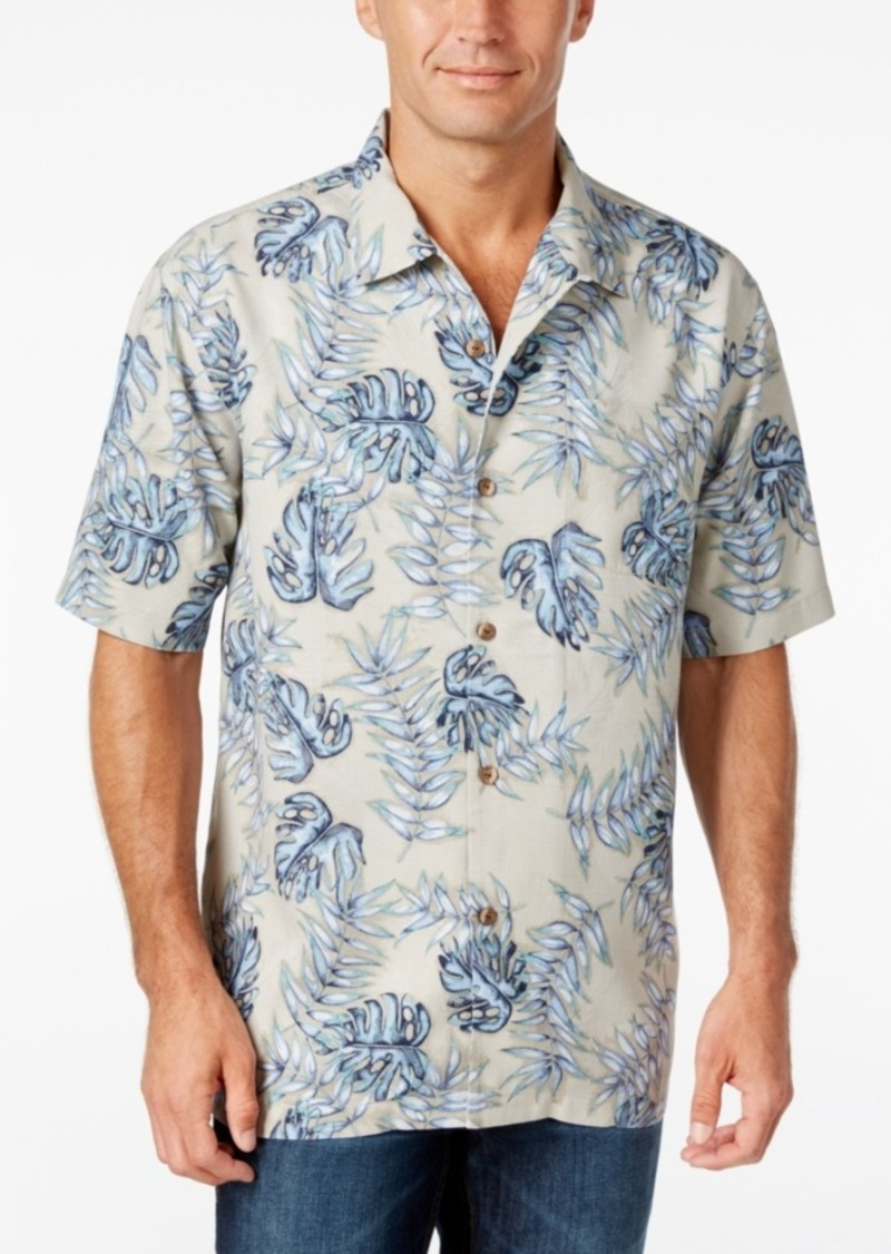 Tommy Bahama Men's Aqua Fresca Floral-Print Silk Short-Sleeve Shirt