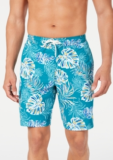 "Tommy Bahama Men's Baja Canyon Leaves Palm-Print 9"" Board Shorts"