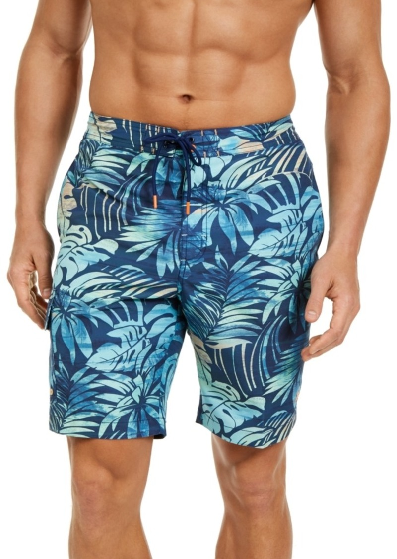 "Tommy Bahama Men's Baja Hidden Shore Stretch Upf 30 Floral-Print 9"" Board Shorts"