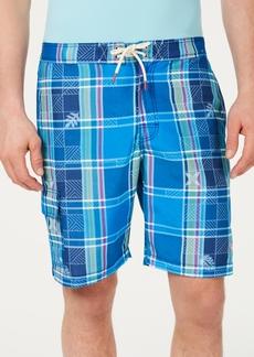 "Tommy Bahama Men's Baja Madras On My Mind Tropical Plaid 9"" Board Shorts"