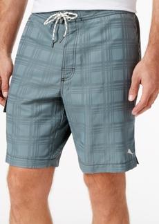 Tommy Bahama Men's Baja Plaid Jacquard Cargo Board Shorts